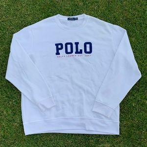 Polo Ralph Lauren Spell Out White Crewneck Sz XXL